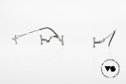 Jean Paul Gaultier 55-9172 Rimless JPG Designer Glasses Details