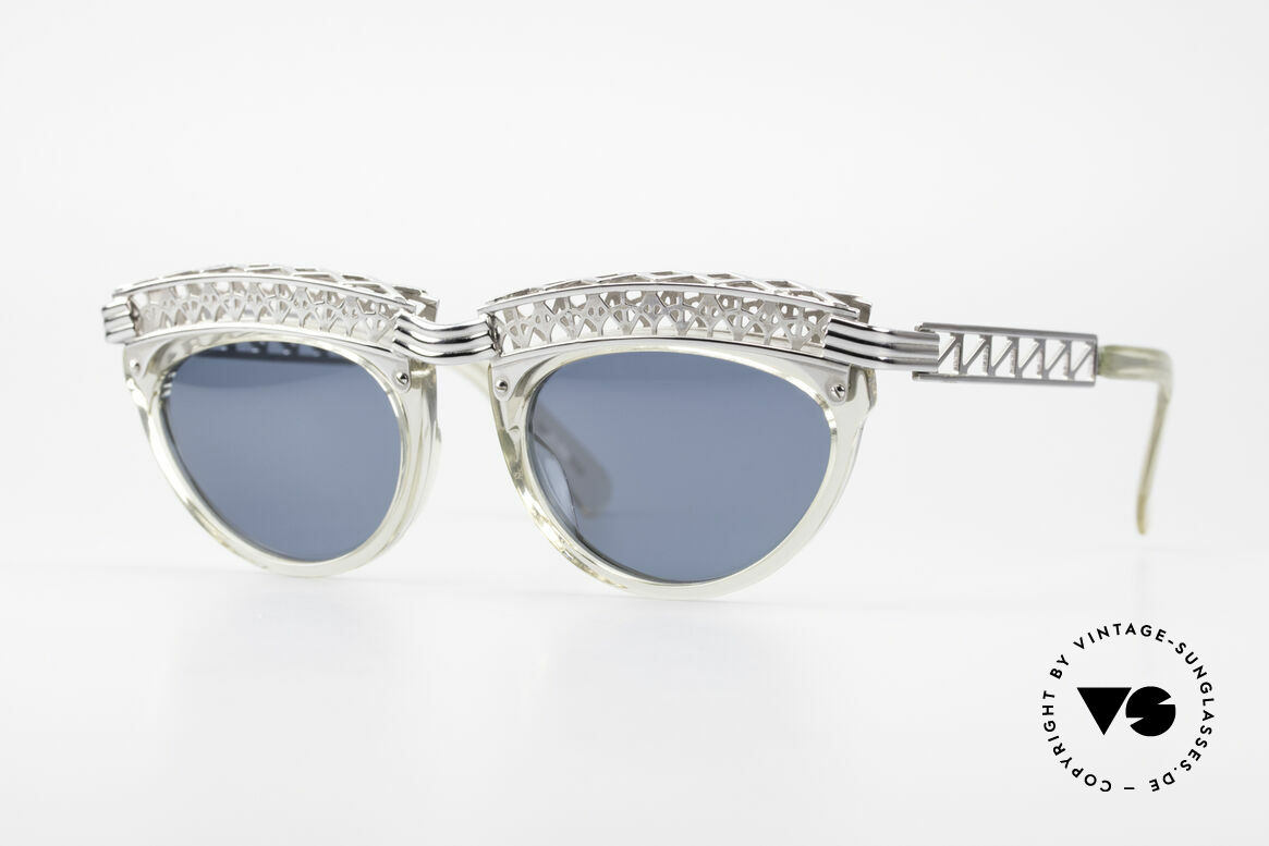 Jean Paul Gaultier 56-0271 Eiffel Tower Rihanna Shades, vintage designer sunglasses by J.P.Gaultier from 1991, Made for Women