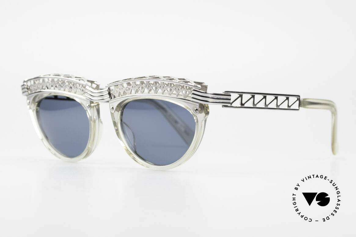 Jean Paul Gaultier 56-0271 Eiffel Tower Rihanna Shades, design inspired by the Eiffel Tower; true vintage rarity, Made for Women