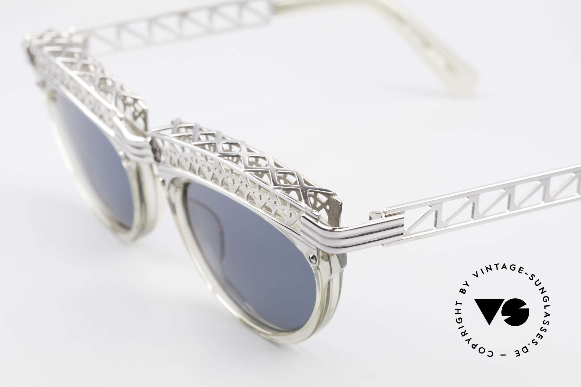 Jean Paul Gaultier 56-0271 Eiffel Tower Rihanna Shades, monolithic - called as 'STEAMPUNK sunglasses' today, Made for Women