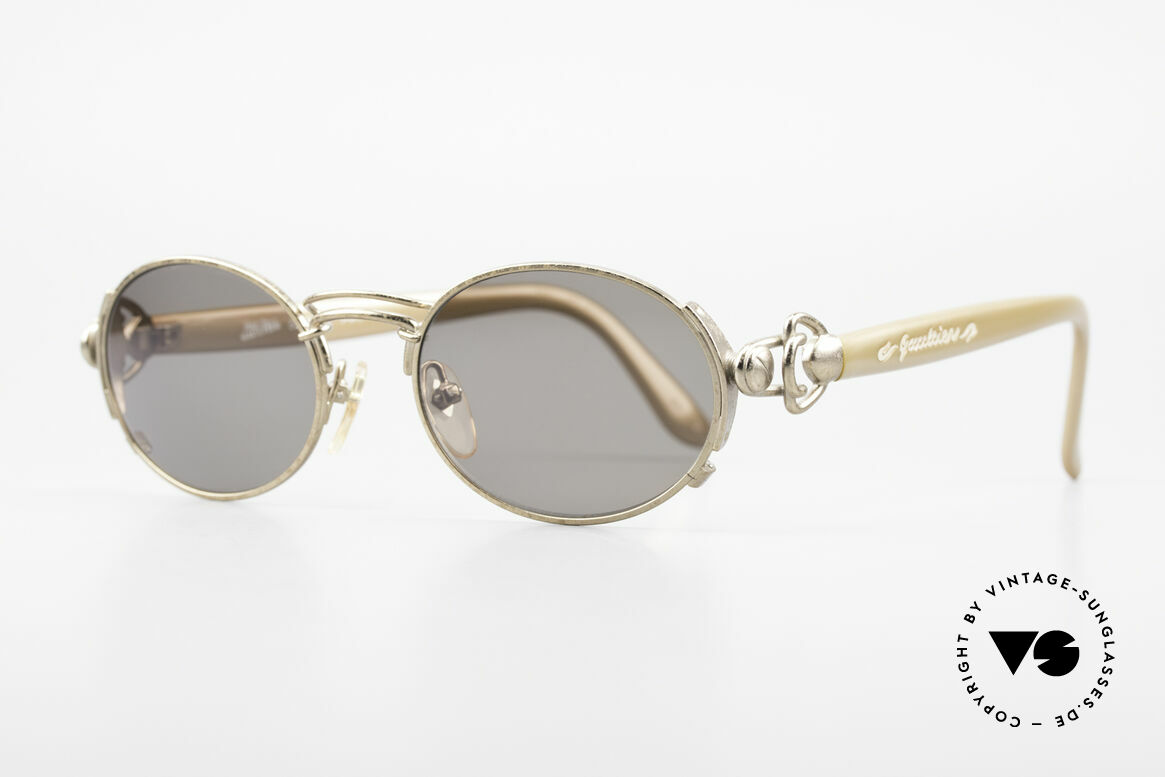 Jean Paul Gaultier 56-6203 Old JPG Sunglasses Oval 90's