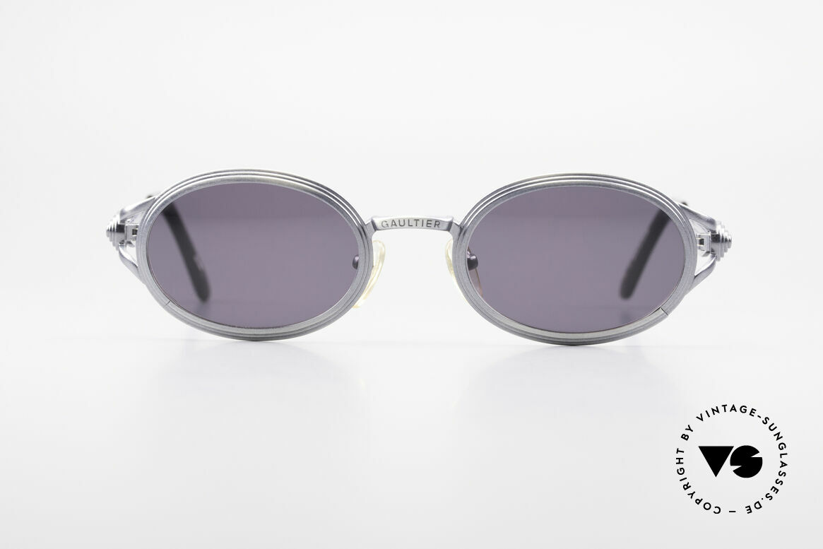 Jean Paul Gaultier 56-7114 Oval Steampunk JPG Glasses, so called 'Steampunk shades' these days (true rarity), Made for Men and Women