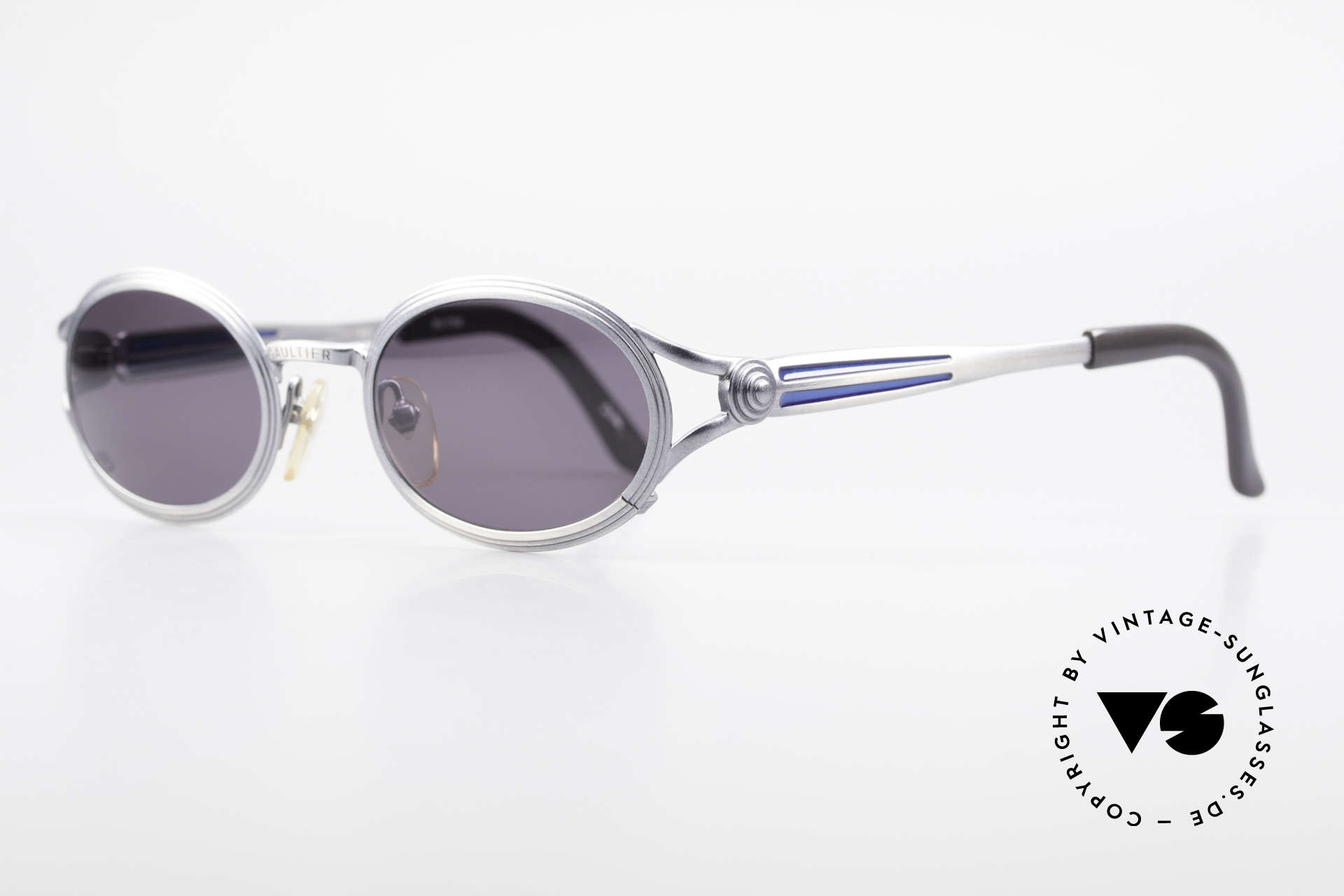 Jean Paul Gaultier 56-7114 Oval Steampunk JPG Glasses, incredible PREMIUM-QUALITY - You must feel this!, Made for Men and Women