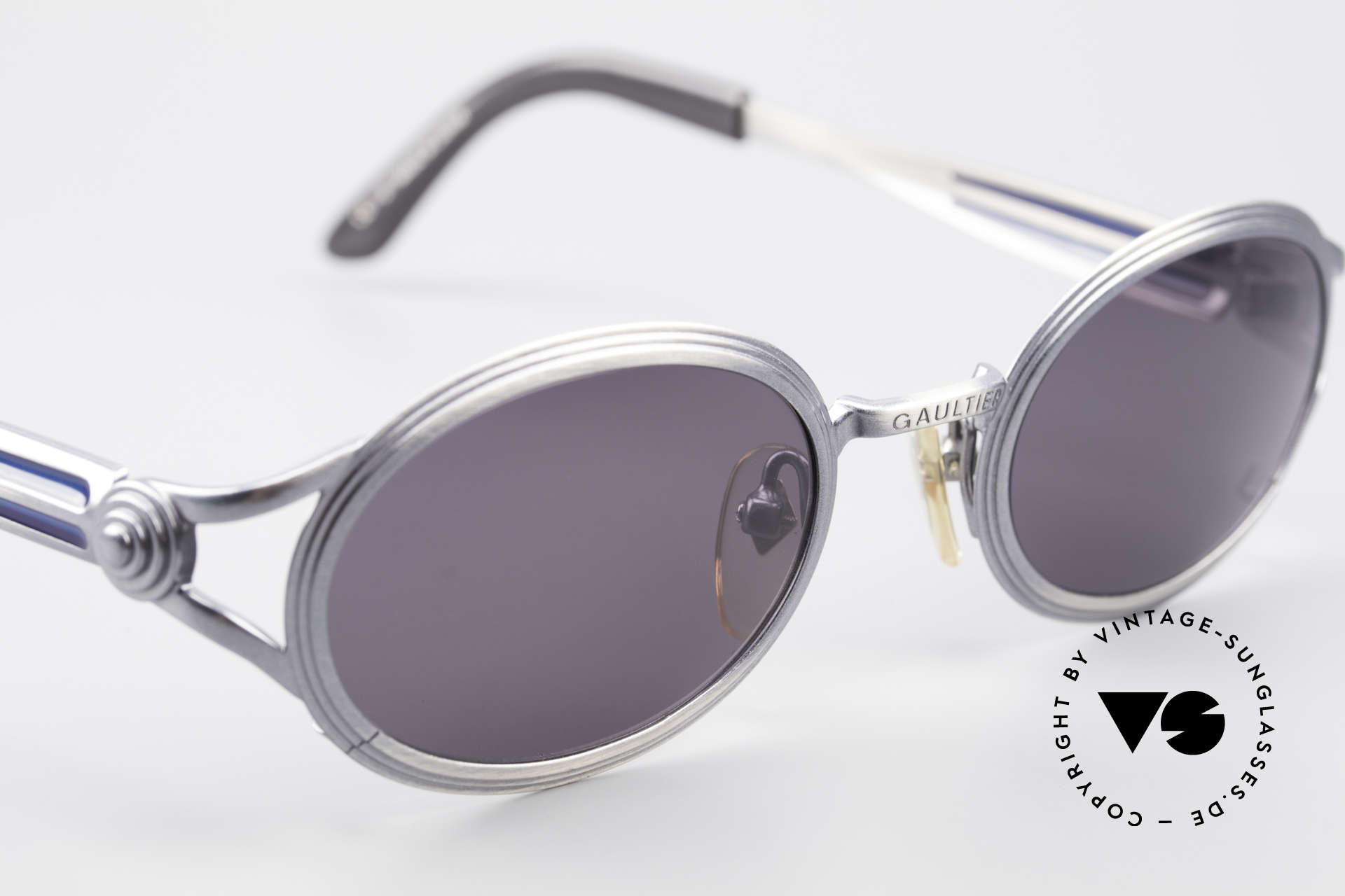 Jean Paul Gaultier 56-7114 Oval Steampunk JPG Glasses, orig. sun lenses (100% UV) can be replaced optionally, Made for Men and Women
