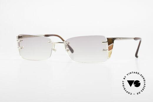 Jean Paul Gaultier 56-0041 Rimless Designer Sunglasses Details