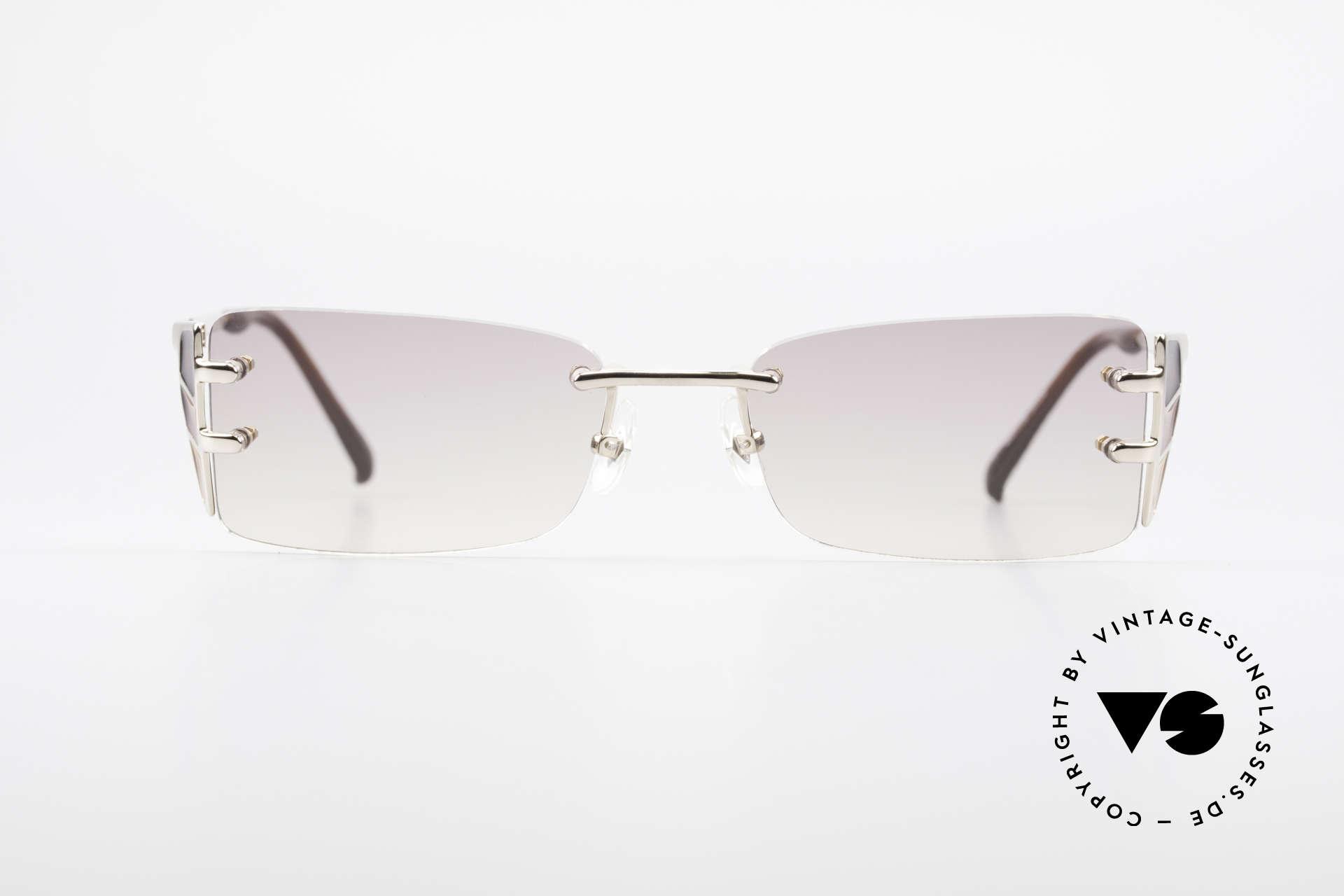 621410753 Sunglasses Jean Paul Gaultier 56-0041 Rimless Designer Sunglasses ...