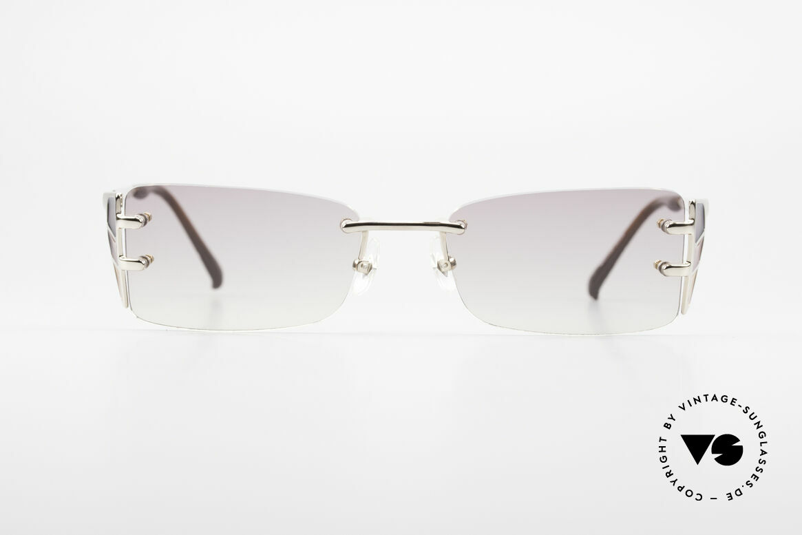 Jean Paul Gaultier 56-0041 Rimless Designer Sunglasses