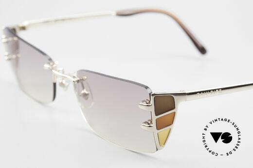 Jean Paul Gaultier 56-0041 Rimless Designer Sunglasses