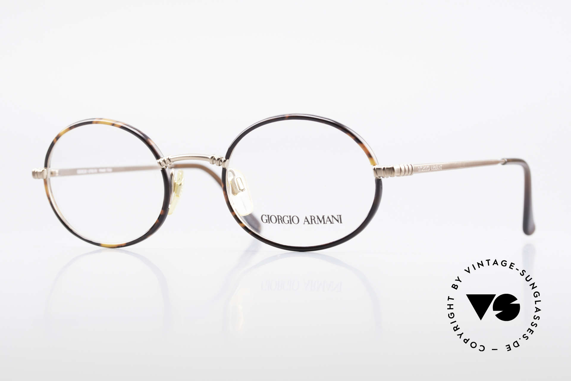 Giorgio Armani 223 Oval Vintage 90's Eyeglasses, vintage designer eyeglass-frame by GIORGIO Armani, Made for Men and Women