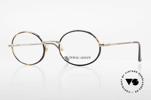 Giorgio Armani 223 Oval Vintage 90's Eyeglasses Details