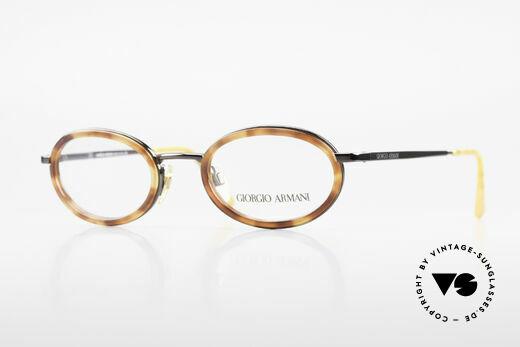 Giorgio Armani 258 90's Oval Vintage Eyeglasses Details