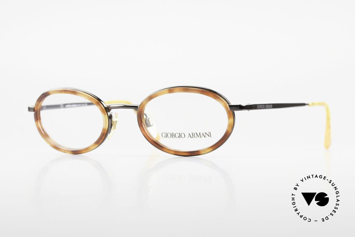 Giorgio Armani 258 90's Oval Vintage Eyeglasses, vintage designer eyeglasses by Giorgio Armani, Italy, Made for Men and Women