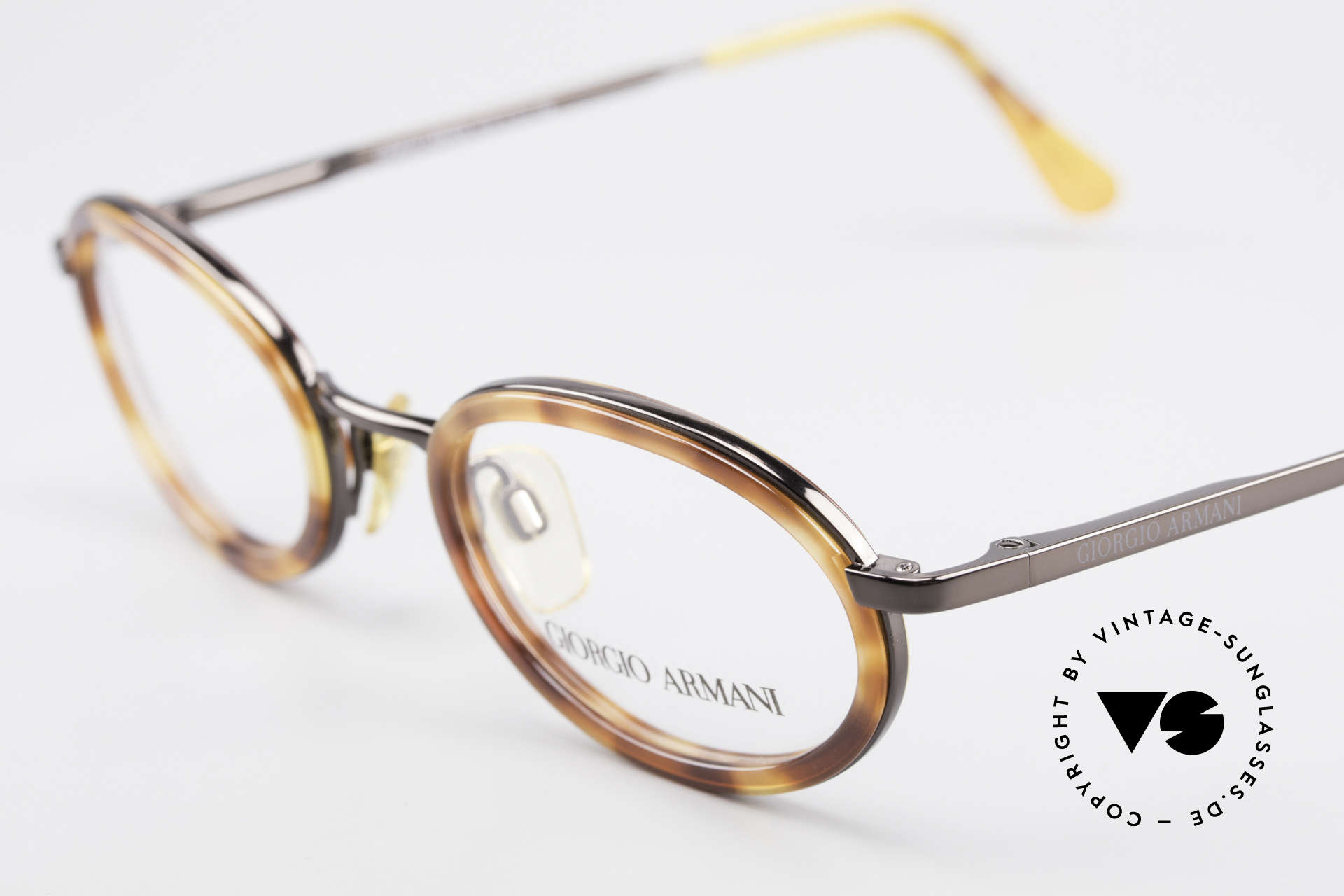 Giorgio Armani 258 90's Oval Vintage Eyeglasses, unworn rarity (like all our rare vintage GA eyeglasses), Made for Men and Women