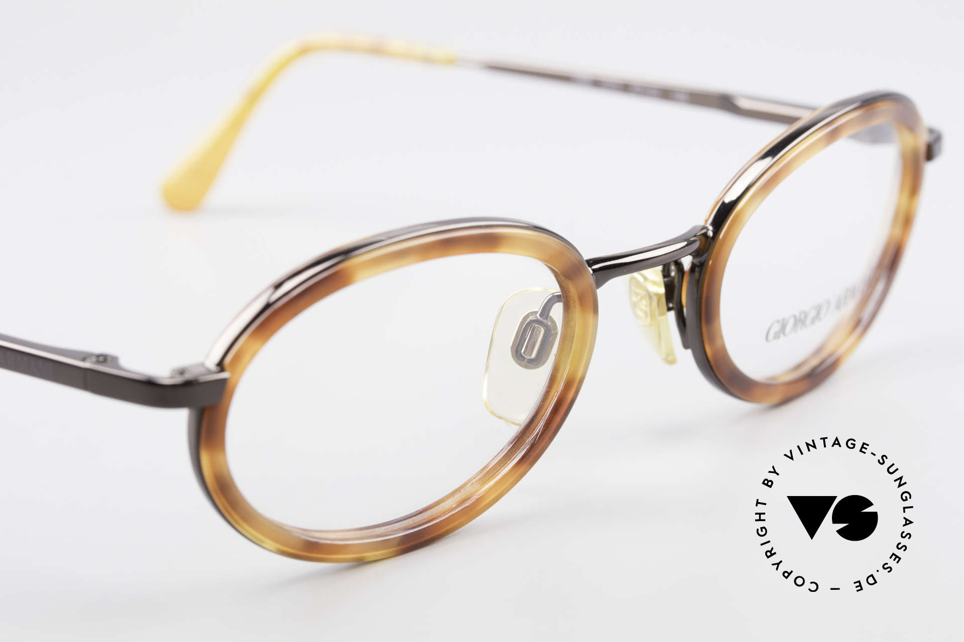 Giorgio Armani 258 90's Oval Vintage Eyeglasses, NO RETRO FRAME, but an app. 25 years old ORIGINAL, Made for Men and Women