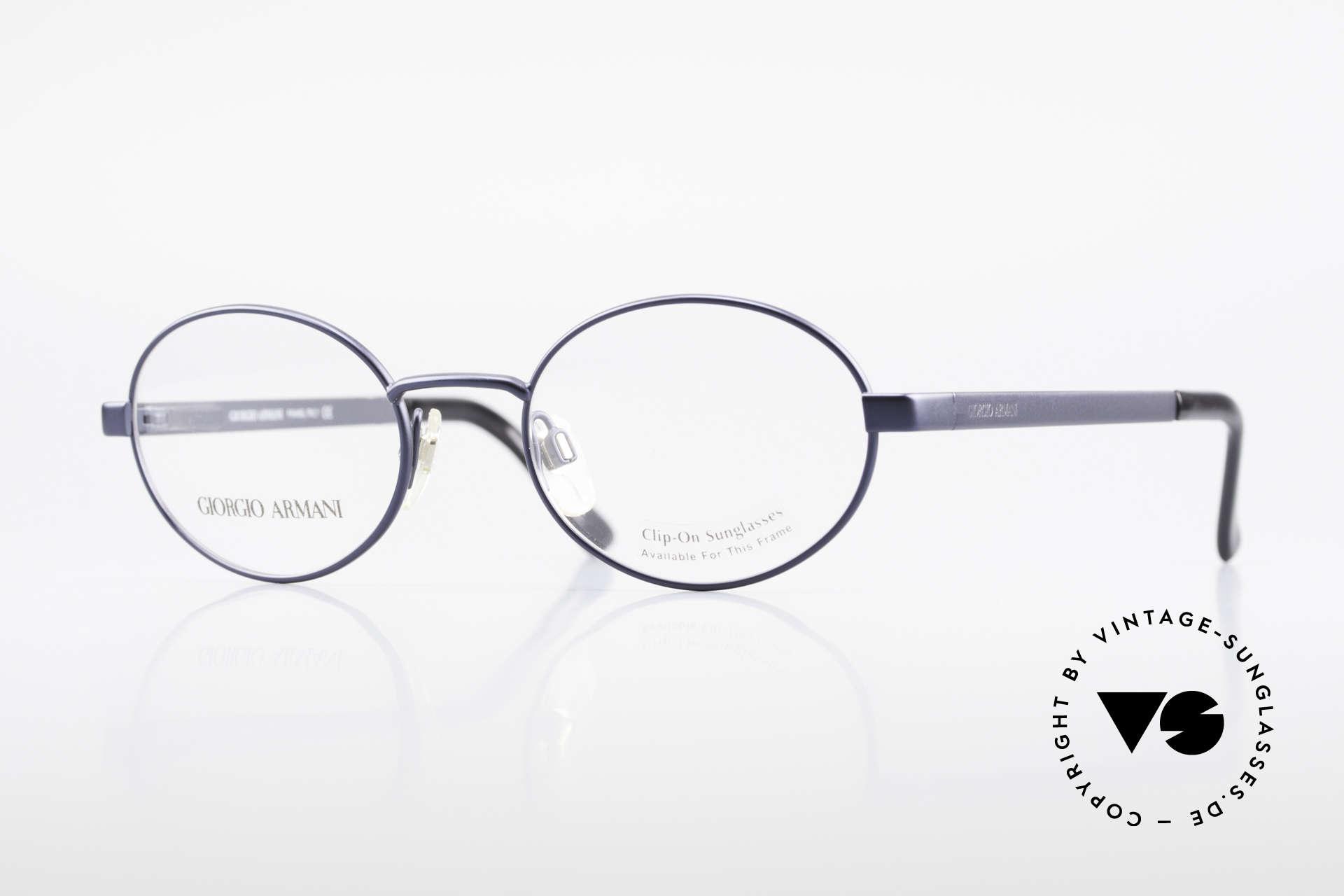 Giorgio Armani 257 90's Oval Vintage Eyeglasses, oval designer eyeglass-frame by GIORGIO ARMANI, Made for Men and Women