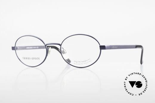 Giorgio Armani 257 90's Oval Vintage Eyeglasses Details