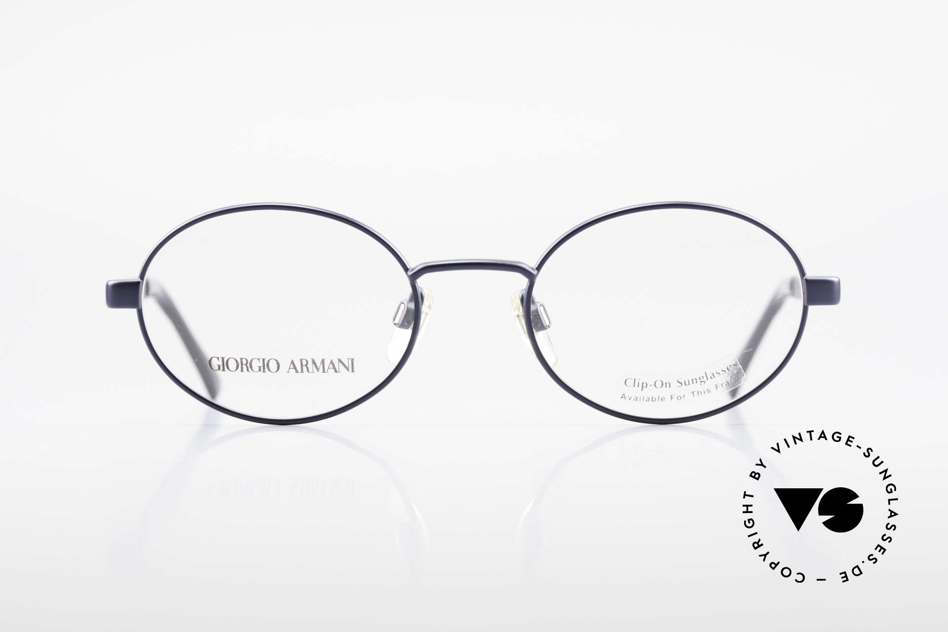 Giorgio Armani 257 90's Oval Vintage Eyeglasses, sober, timeless style: suitable for many occasions, Made for Men and Women