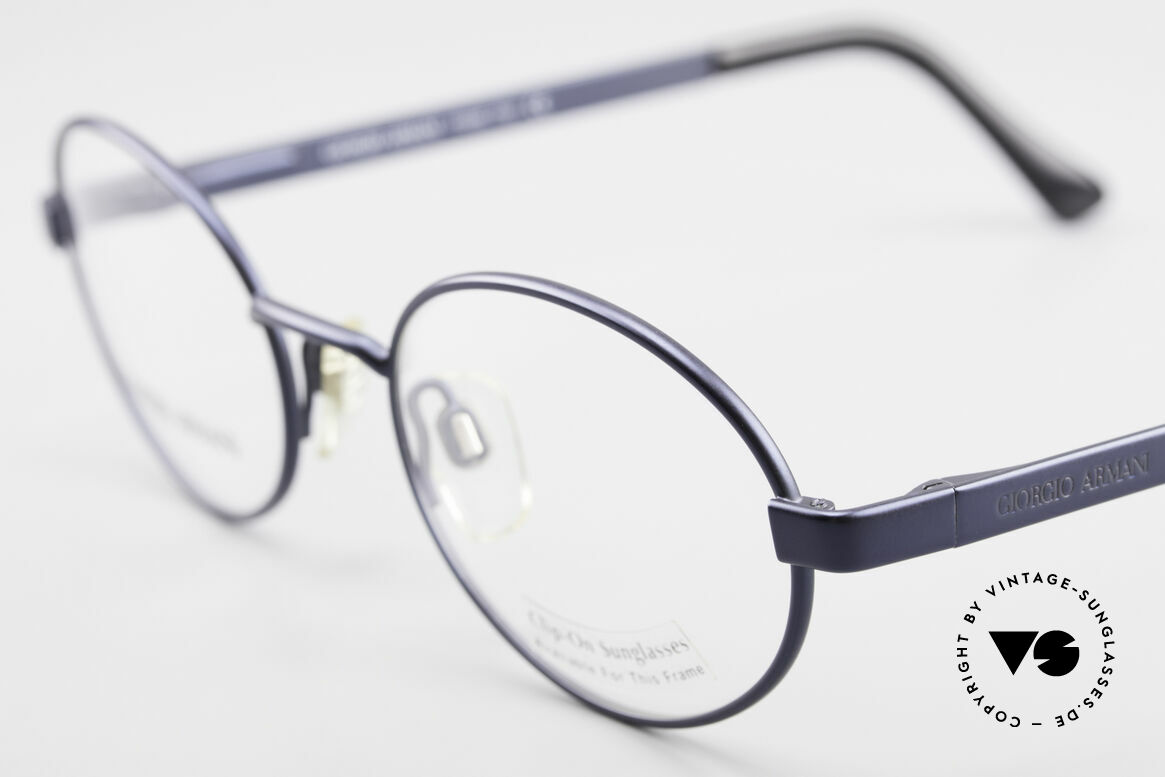 Giorgio Armani 257 90's Oval Vintage Eyeglasses, never worn (like all our 1990's designer classics), Made for Men and Women