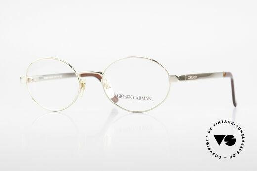 Giorgio Armani 257 Designer Vintage Frame Oval Details