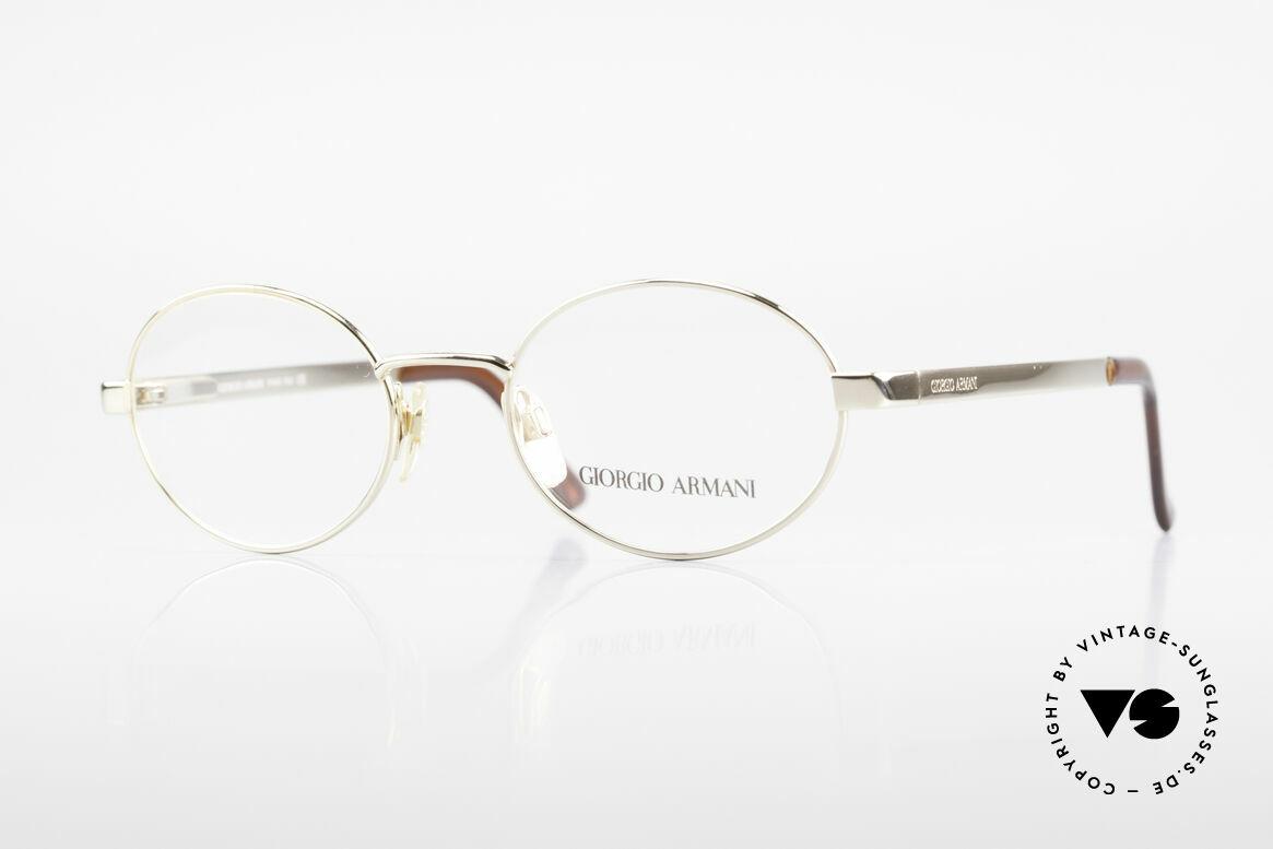 Giorgio Armani 257 Designer Vintage Frame Oval, oval designer eyeglass-frame by GIORGIO ARMANI, Made for Men and Women