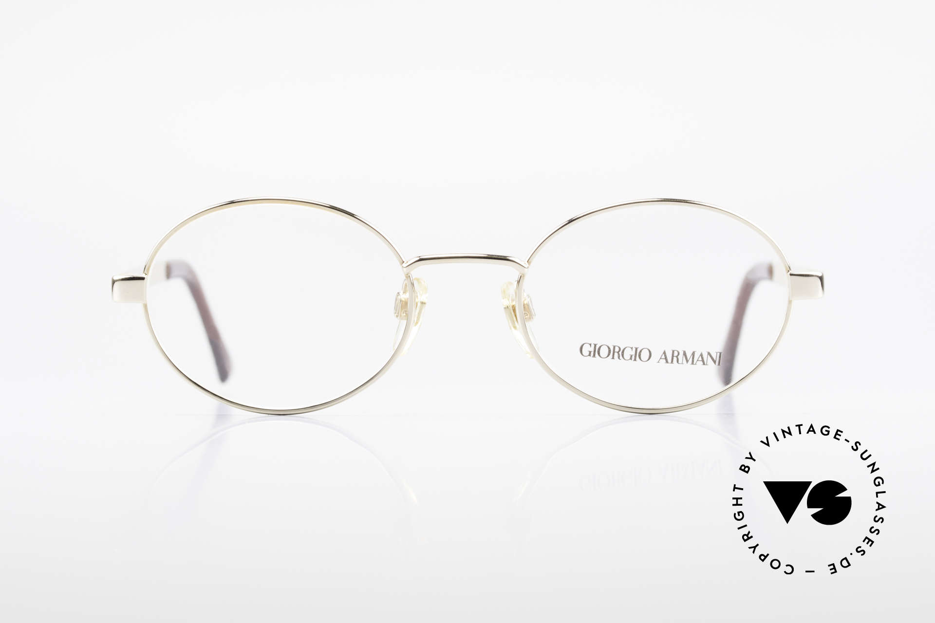 Giorgio Armani 257 Designer Vintage Frame Oval, sober, timeless style: suitable for many occasions, Made for Men and Women