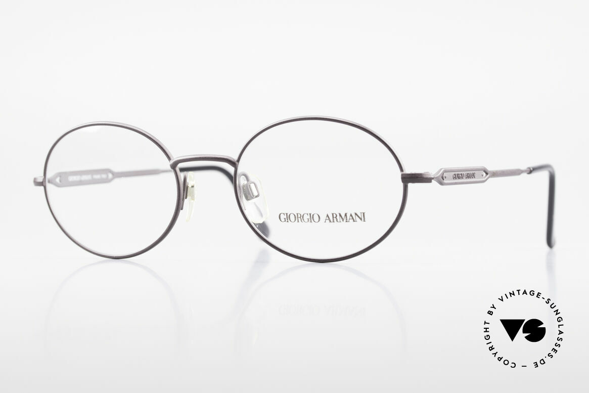 Giorgio Armani 241 No Retro Glasses Oval Vintage, oval GIORGIO ARMANI vintage designer eyeglasses, Made for Men
