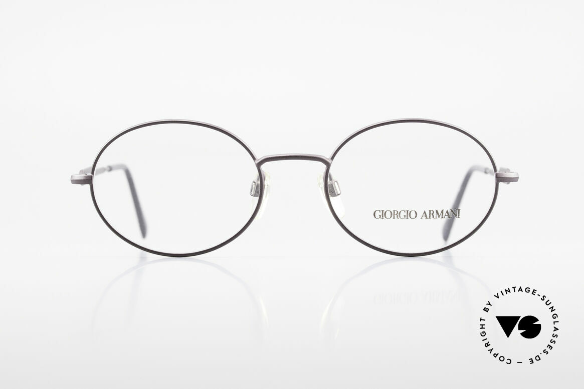 Giorgio Armani 241 No Retro Glasses Oval Vintage, a timeless 1990's model in tangible premium quality, Made for Men