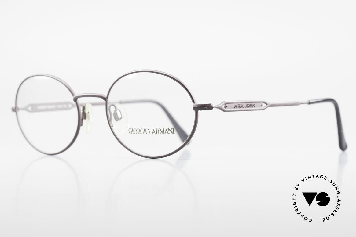 Giorgio Armani 241 No Retro Glasses Oval Vintage, with subtle frame details (typically Giorgio Armani), Made for Men