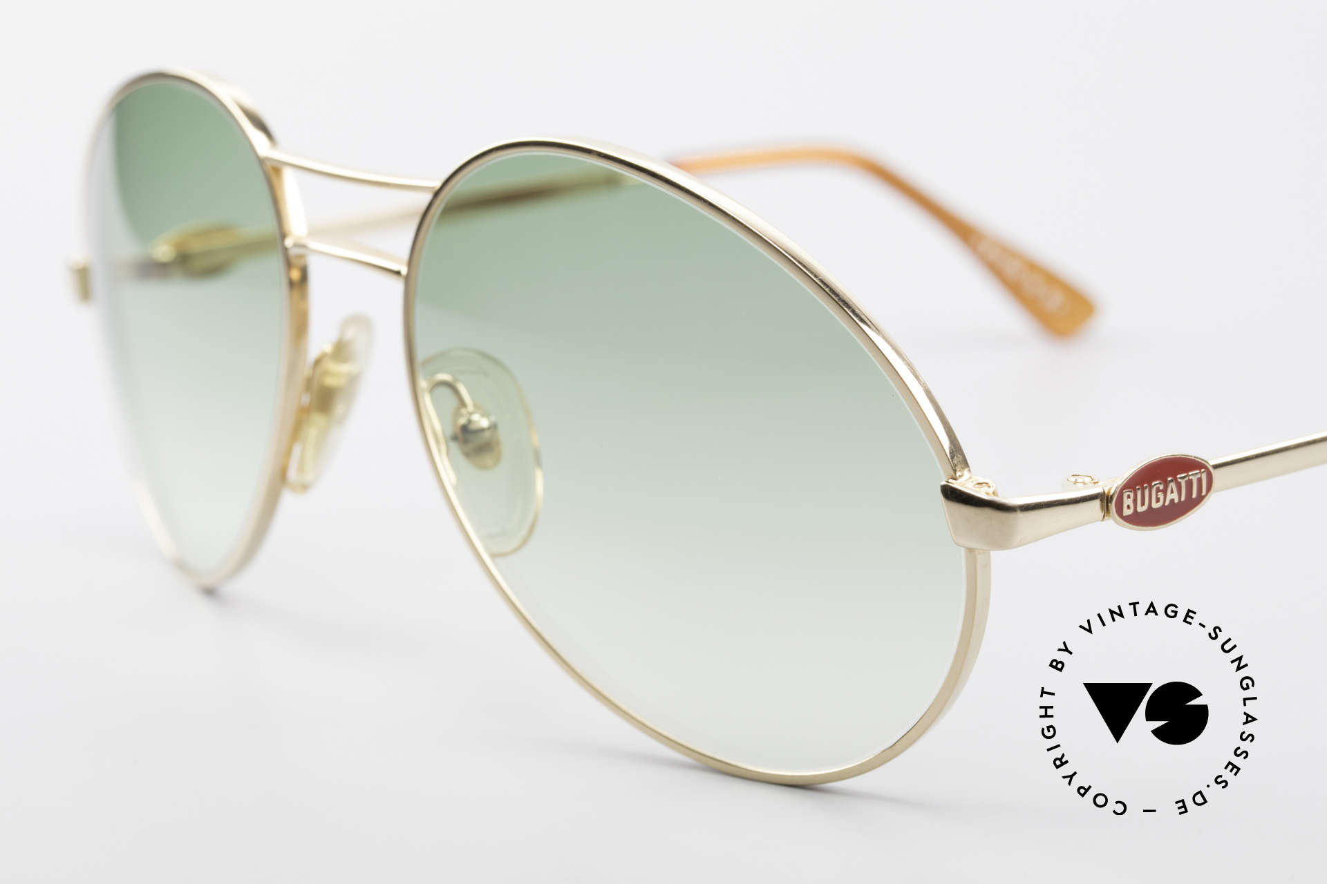 Bugatti 64335 Extraordinary Frame Design, green-gradient lenses for max. UV protection, Made for Men