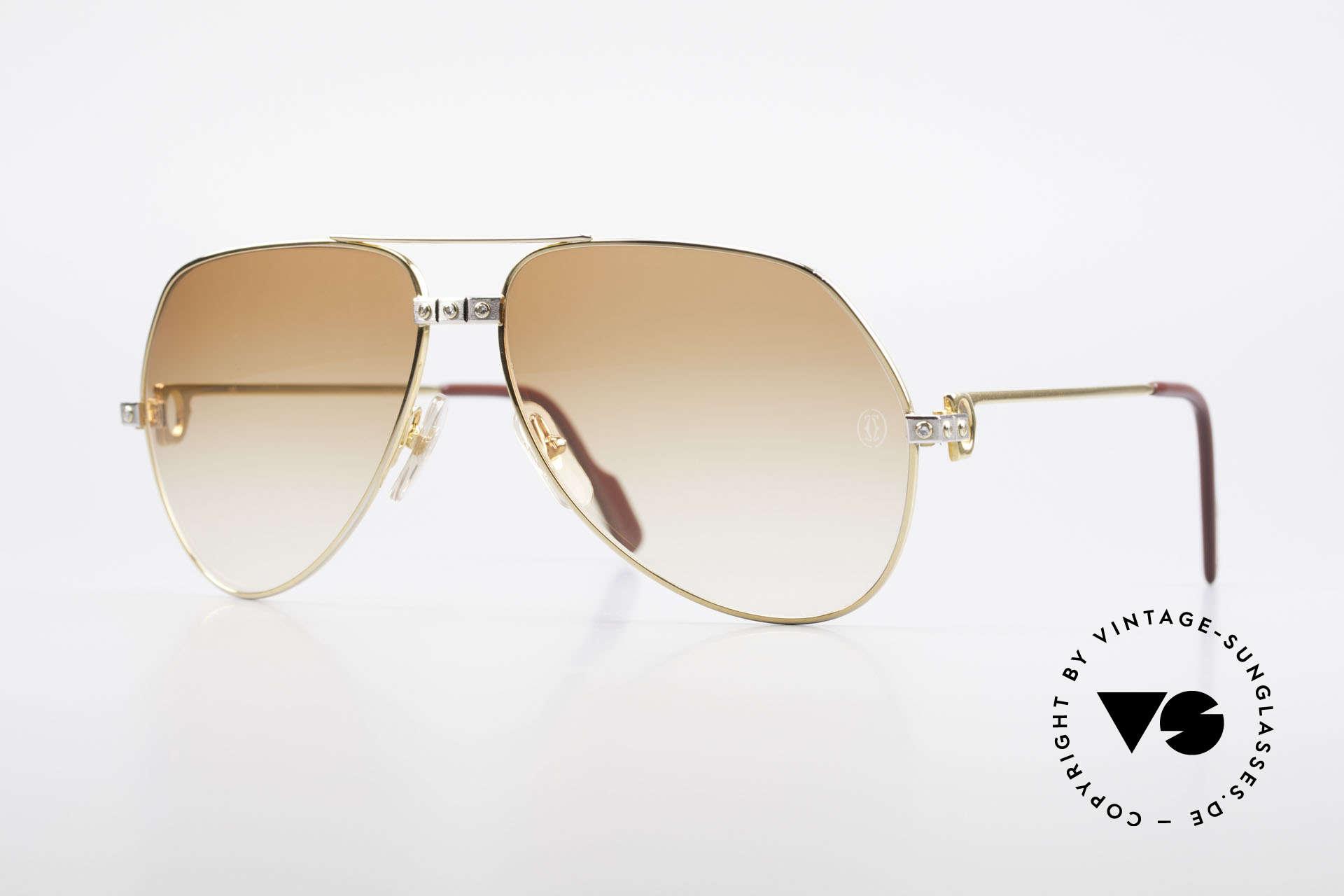 Cartier Vendome Santos - L Customized Diamond Shades, orig. vintage Cartier DIAMOND sunglasses from the 80's, Made for Men