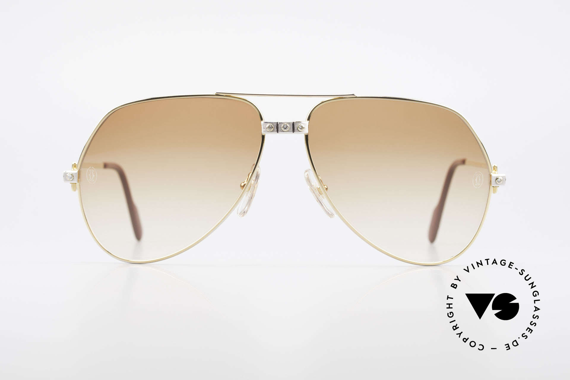 Cartier Vendome Santos - L Customized Diamond Shades, extremely expensive refined frame for even more luxury, Made for Men