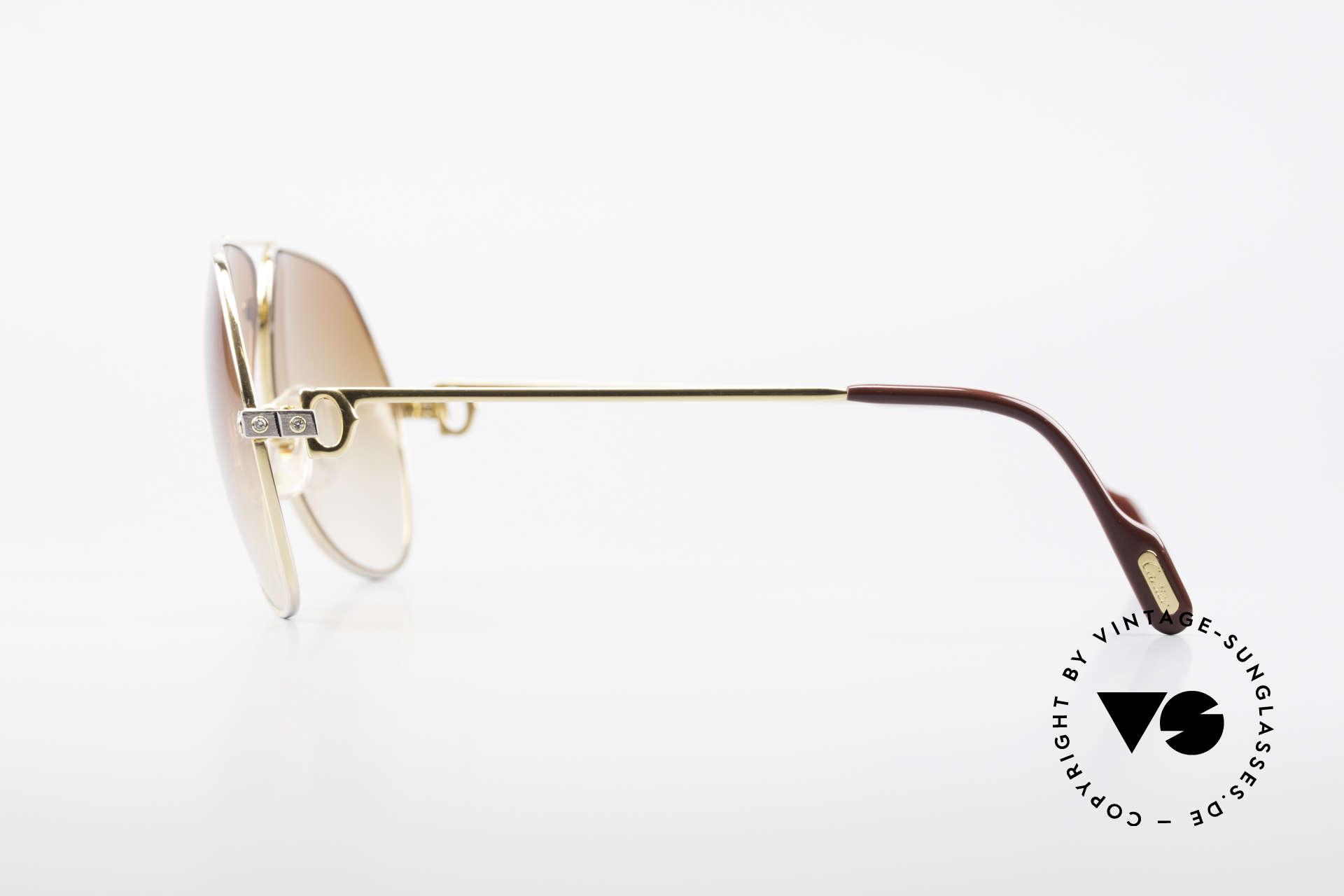 Cartier Vendome Santos - L Customized Diamond Shades, moreover with orig. Cartier sun lenses (with Cartier logo), Made for Men
