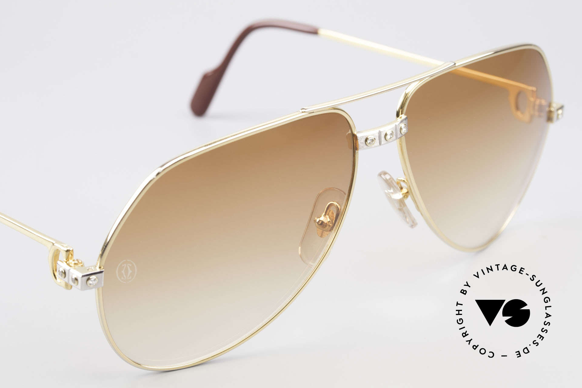 Cartier Vendome Santos - L Customized Diamond Shades, Size: large, Made for Men