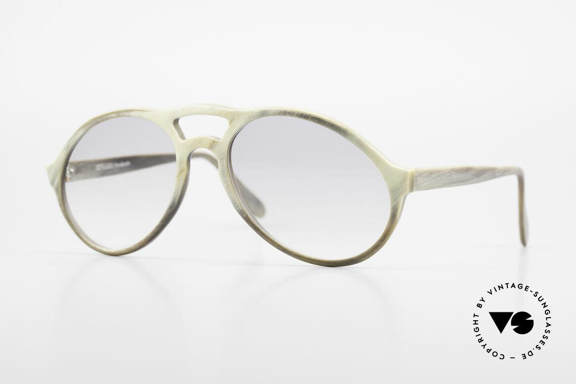 Bugatti 55020 Genuine Buffalo Horn Frame, precious 80's Bugatti vintage sunglasses; size 54-18, Made for Men