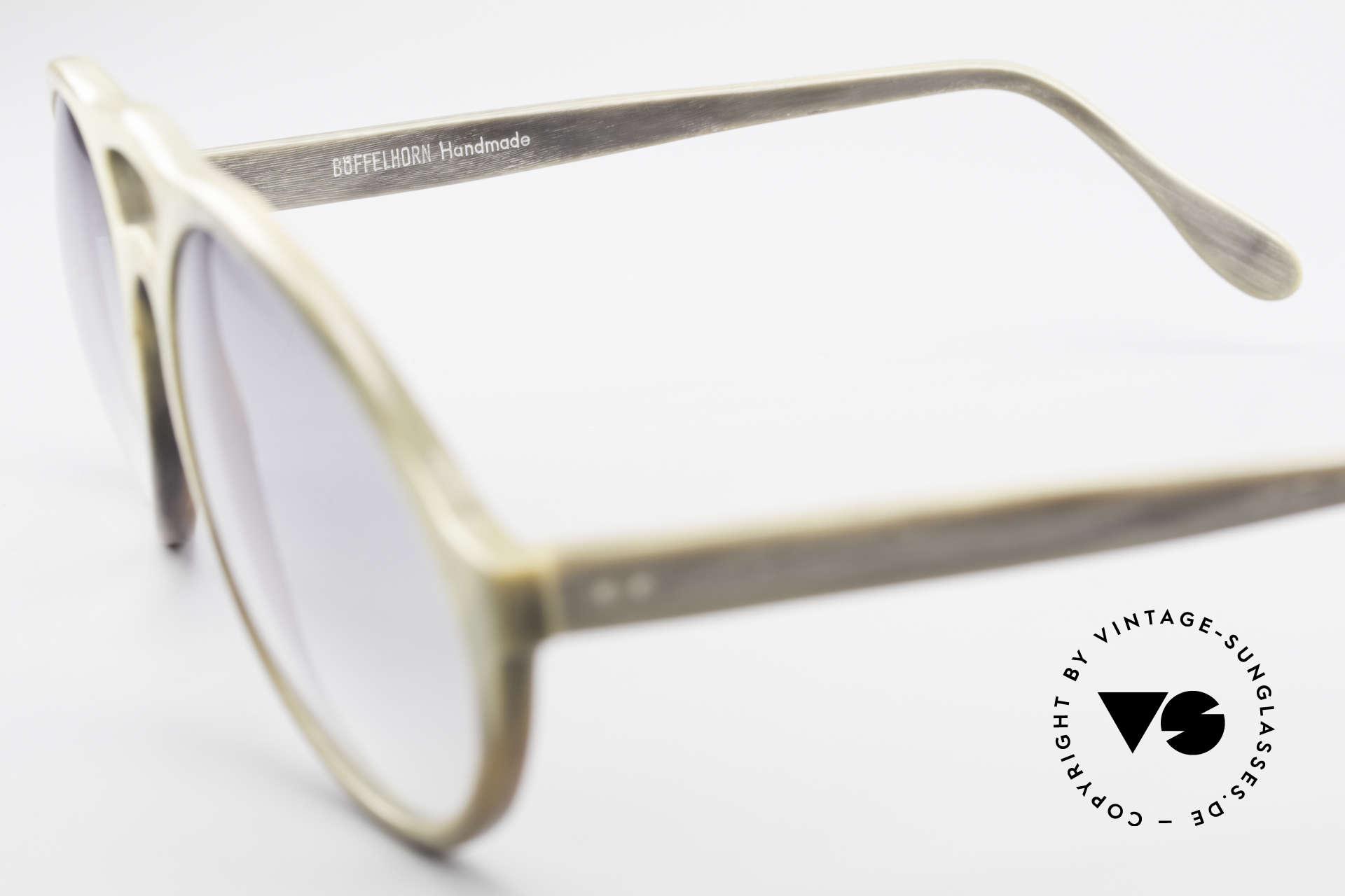Bugatti 55020 Genuine Buffalo Horn Frame, unworn (like all our BUGATTI gentlemen's sunglasses), Made for Men