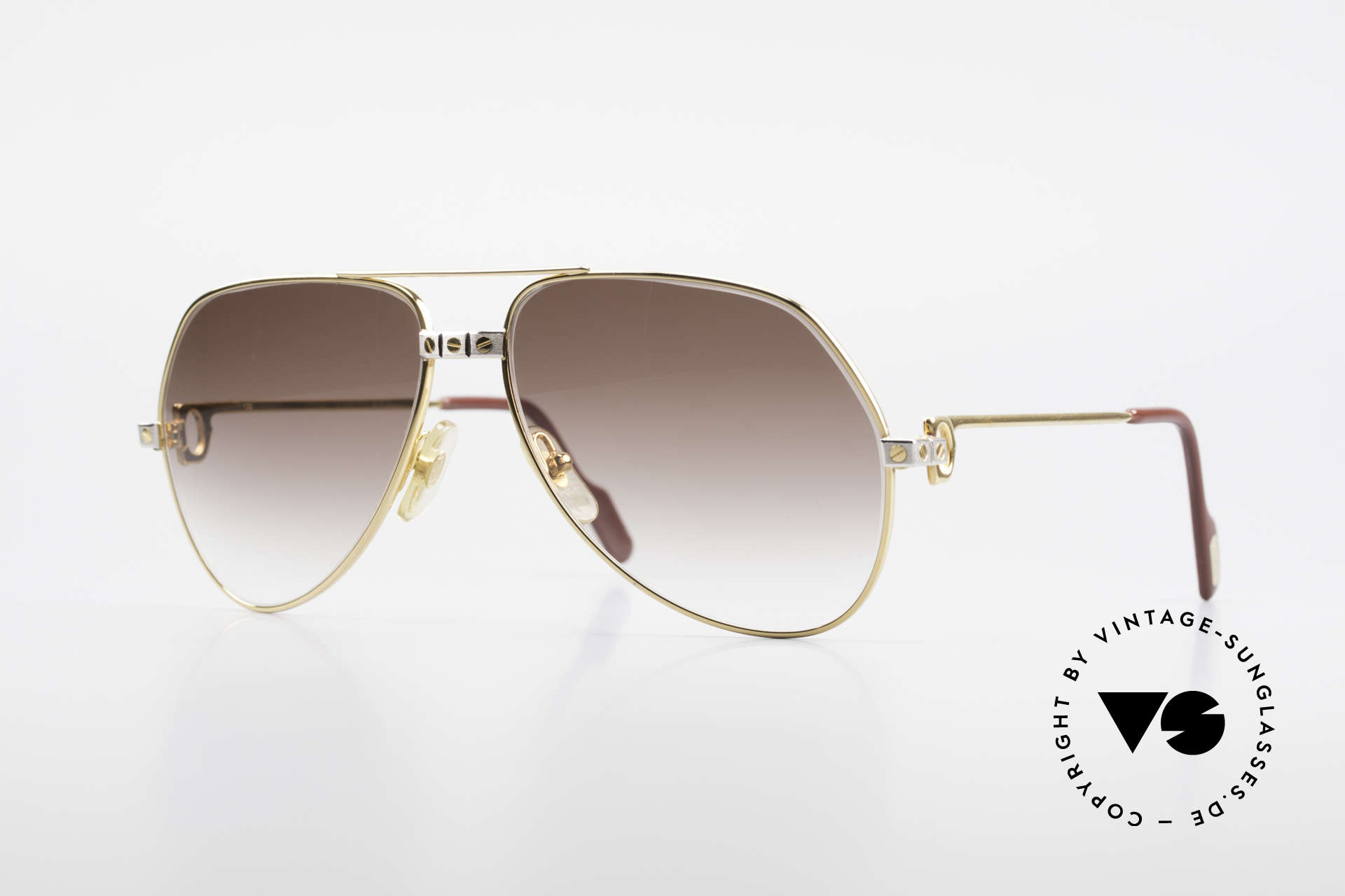 Cartier Vendome Santos - M Luxury 80's Aviator Shades, Vendome = the most famous eyewear design by CARTIER, Made for Men and Women