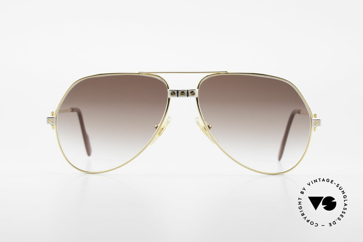 "Cartier Vendome Santos - M Luxury 80's Aviator Shades, mod. ""Vendome"" was launched in 1983 & made till 1997, Made for Men and Women"