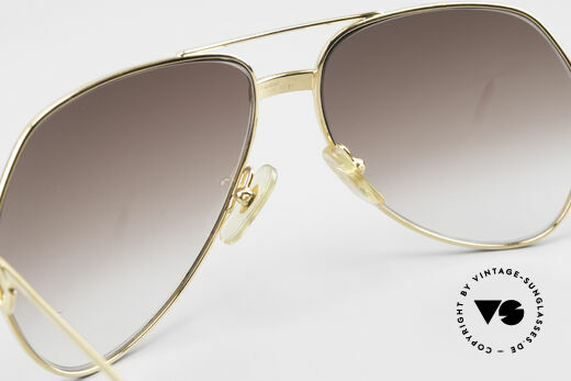 Cartier Vendome Santos - M Luxury 80's Aviator Shades, with new brown-gradient sun lenses; 100% UV protection, Made for Men and Women