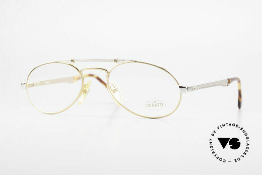 Bugatti 16958 Gold Plated 80's Eyeglasses Details