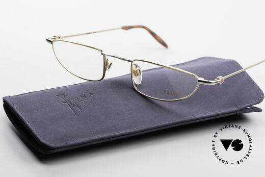 Bugatti 11708 90's Luxury Reading Glasses, demo lenses can be replaced optionally, size 49-23, Made for Men