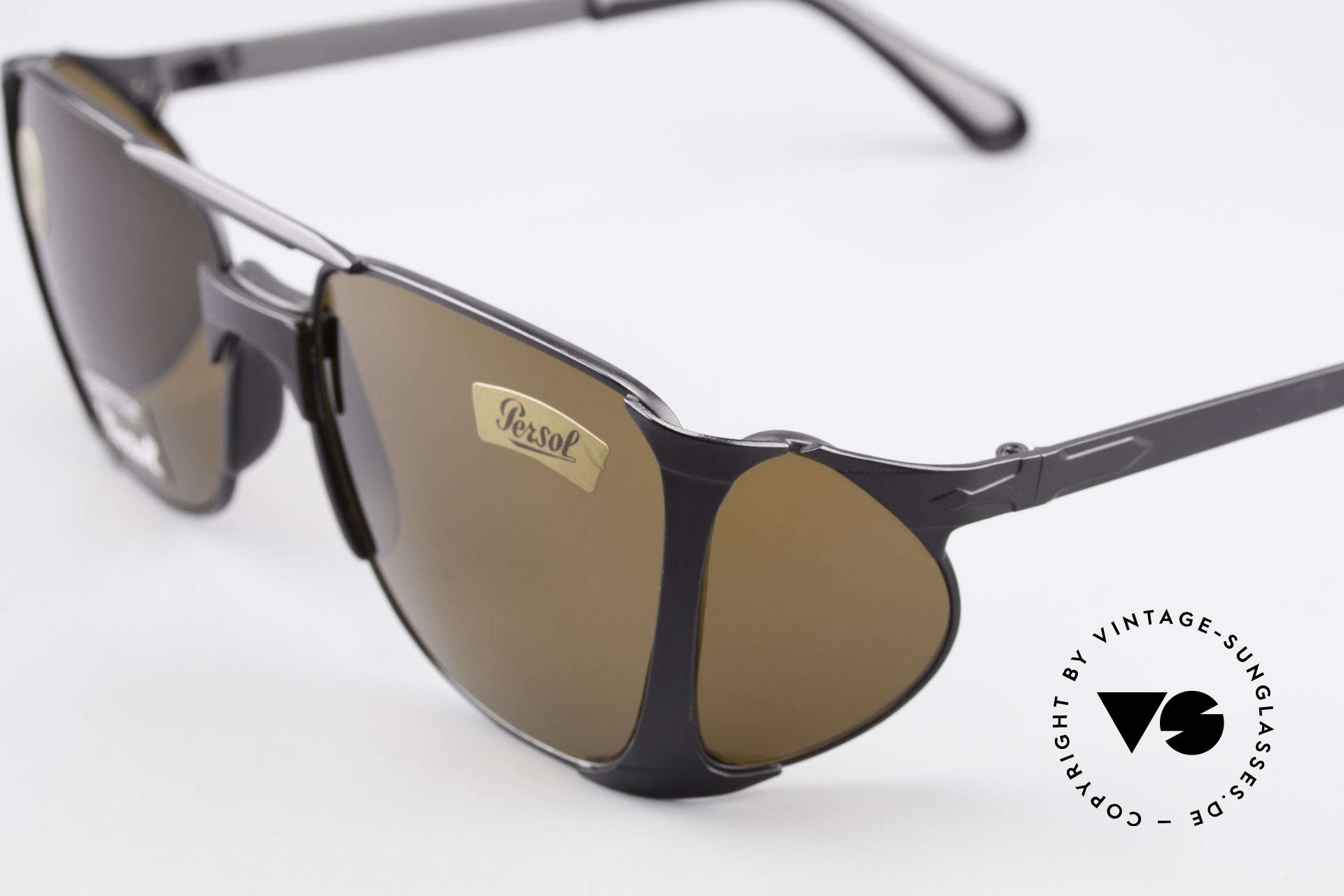 Persol 009 Ratti VIP Vintage 4lenses Nasa Shades, MODEL VIP = matt black special edition from the 80s, Made for Men