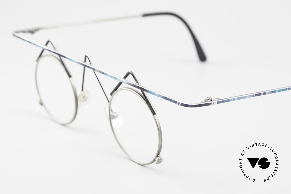 Argenta Crazy 705 Fancy Vintage Eyeglasses, unworn, one of a kind, turquois-gray colored frame, Made for Women