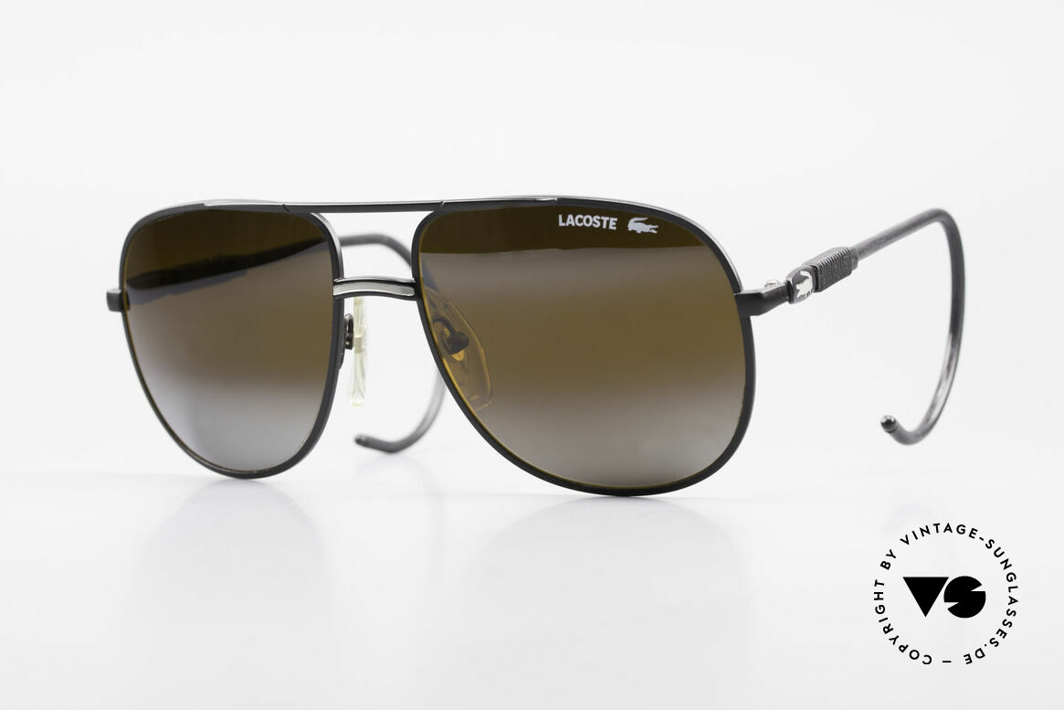 Lacoste 101S Sporty Aviator Sunglasses XL, vintage Lacoste 101 sunglasses from the 1980's / 1990's, Made for Men