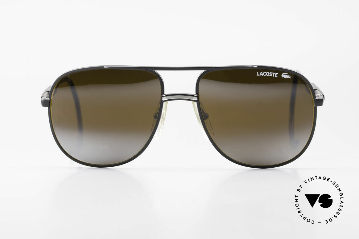 Lacoste 101S Sporty Aviator Sunglasses XL, mod. 101 was released in the 80s & modified in the 90's, Made for Men