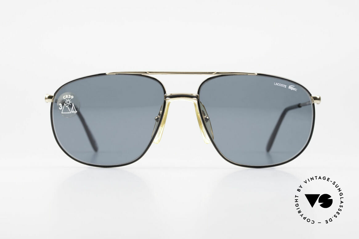 Lacoste 121 Large Sports Sunglasses Men, hybrid between sport and chic; with orig. case, Made for Men