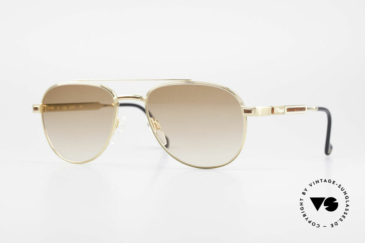 S.T. Dupont D081 23kt Gold Plated Frame Aviator, very exclusive S.T. DUPONT aviator shades, size 55°19, Made for Men