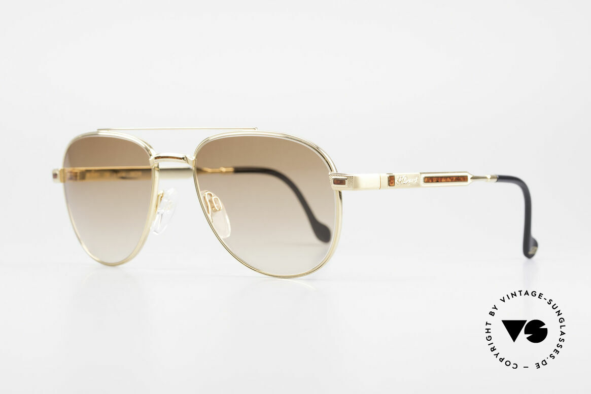 S.T. Dupont D081 23kt Gold Plated Frame Aviator, incl. orig. S.T. Dupont certificate, hard case & packing, Made for Men