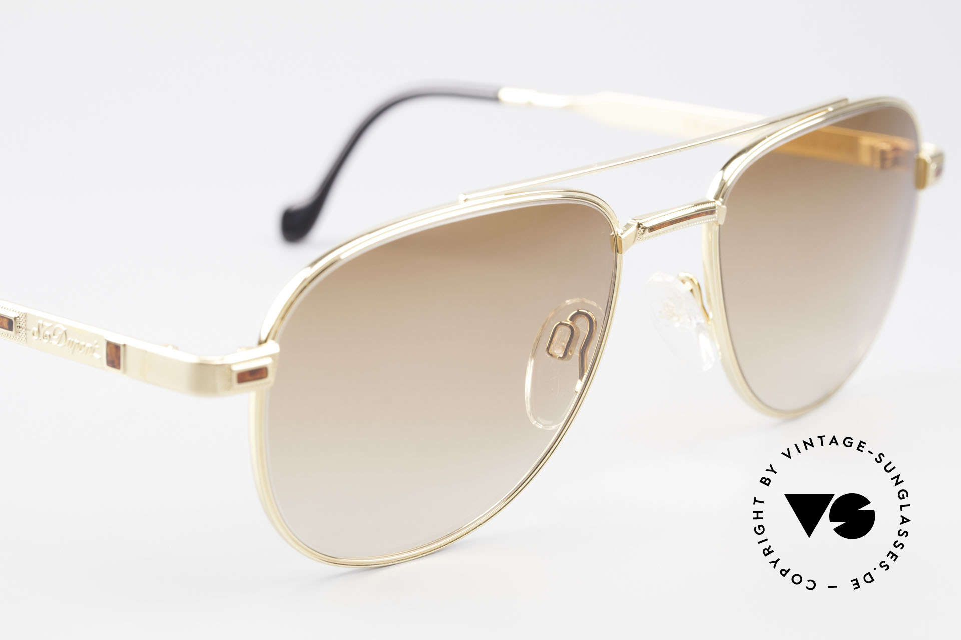 S.T. Dupont D081 23kt Gold Plated Frame Aviator, NO RETRO sunglasses, but a precious 1990's ORIGINAL, Made for Men