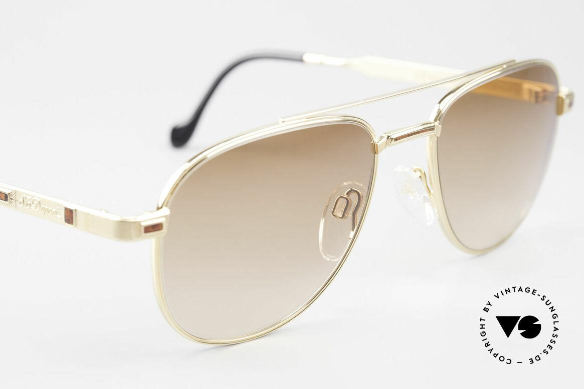 S.T. Dupont D081 23kt Gold Plated Frame Aviator, NO RETRO sunglasses, but a precious 1990's ORIGINAL, Made for Men