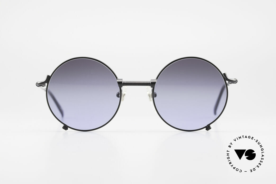 Jean Paul Gaultier 55-7162 Round Vintage Sunglasses, round metal sunglasses in HIGH-END quality, Made for Men and Women